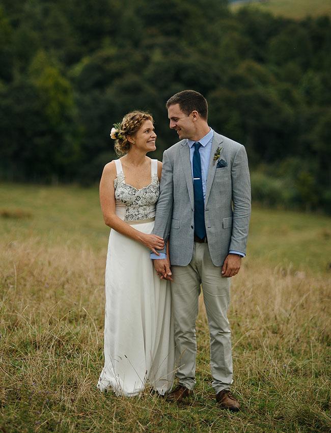 New Zealand bride and groom