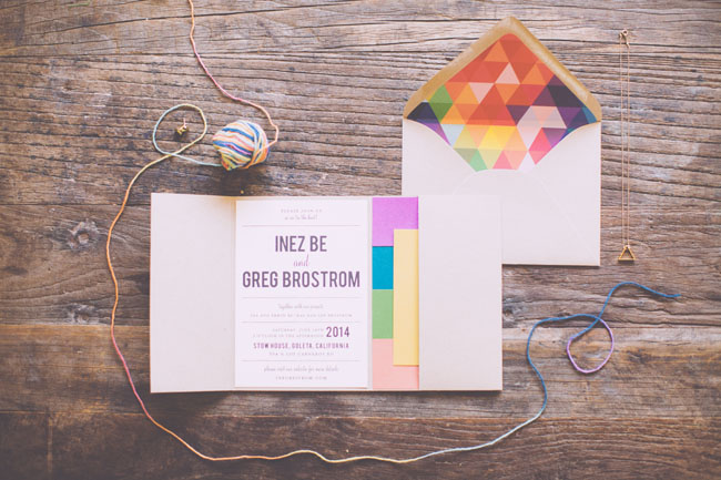 rainbow invitation