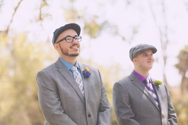 rainbow wedding ceremony