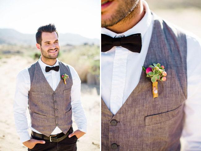 bow tie desert groom