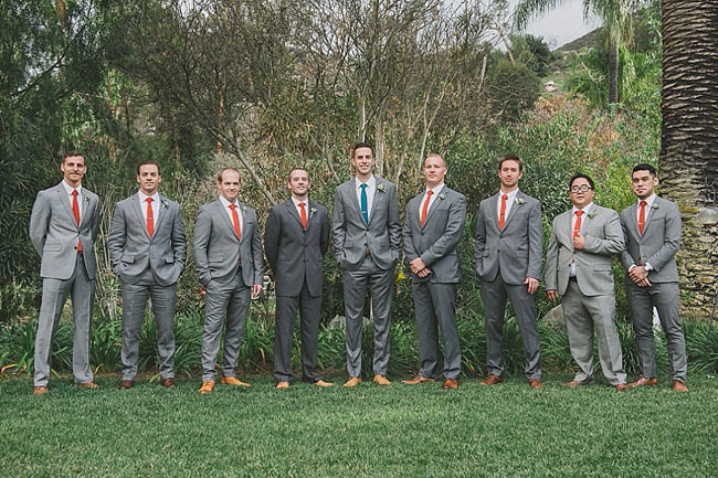 colorful groomsmen ties