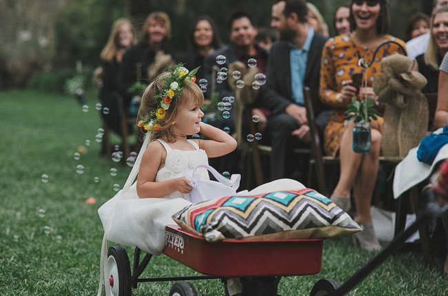 southwestern flower girl