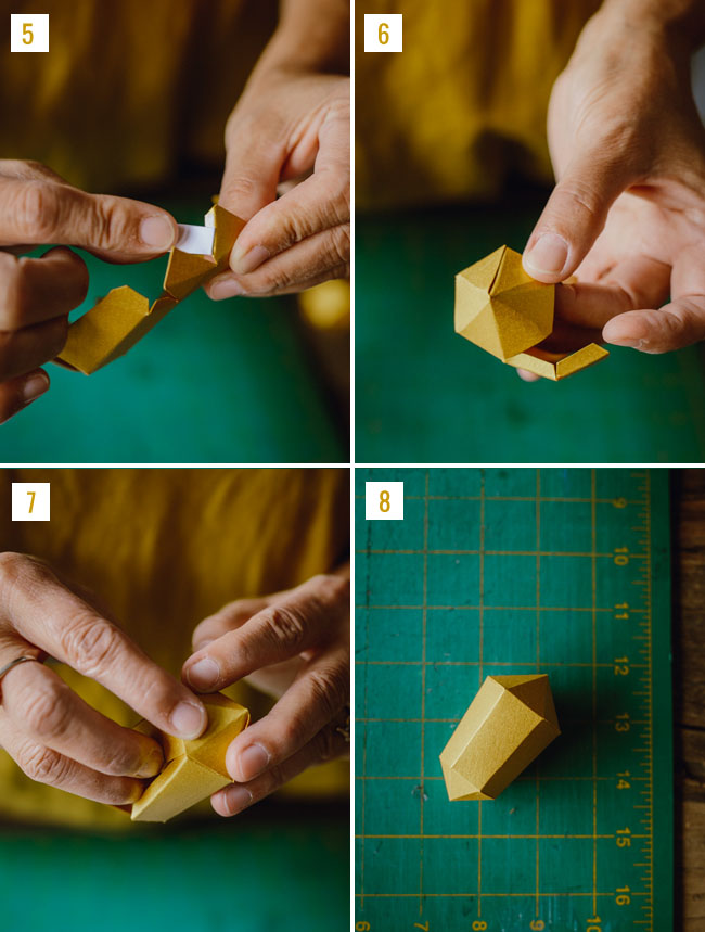 DIY geometric boutonniere