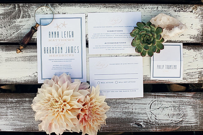 summer beach invitation