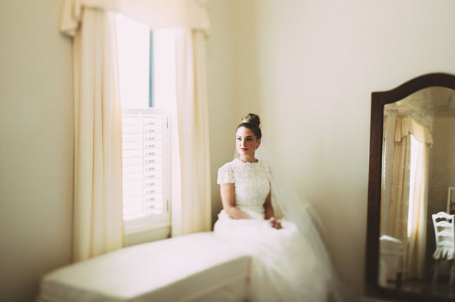 top knot bride