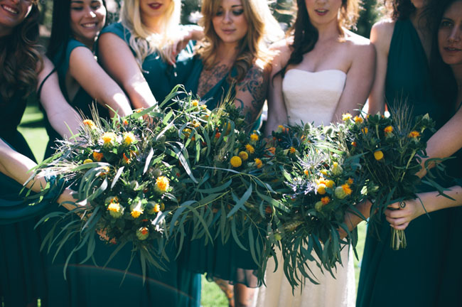 leafy bouquets