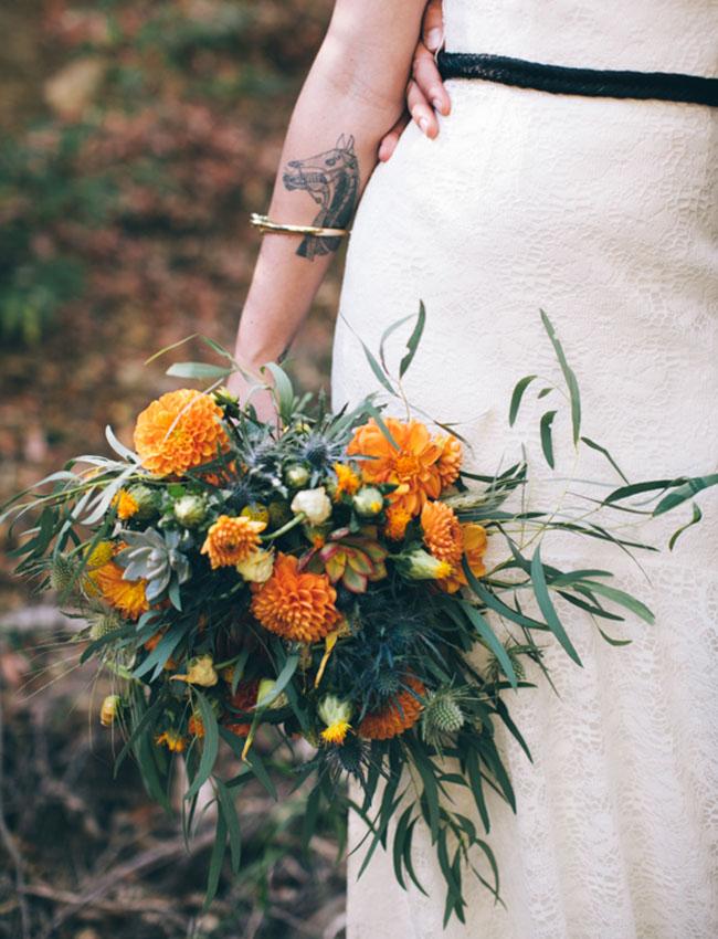 whimsical orange bouquet