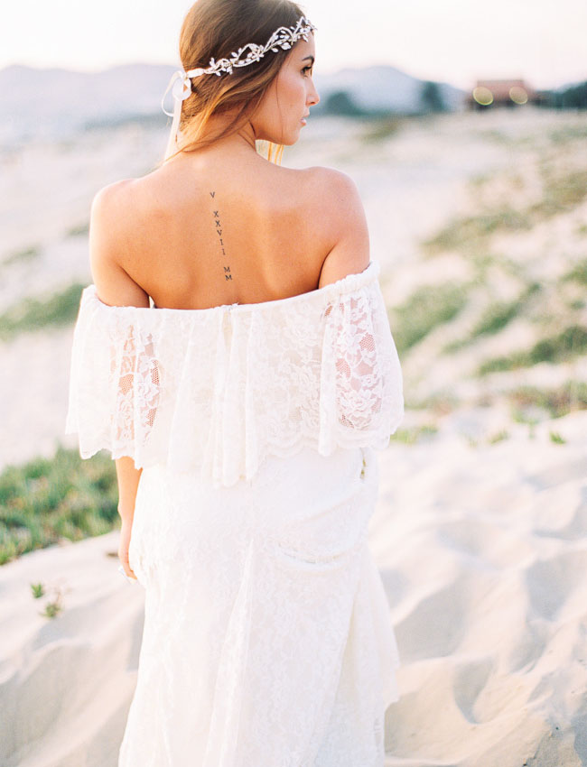lace off the shoulder dress