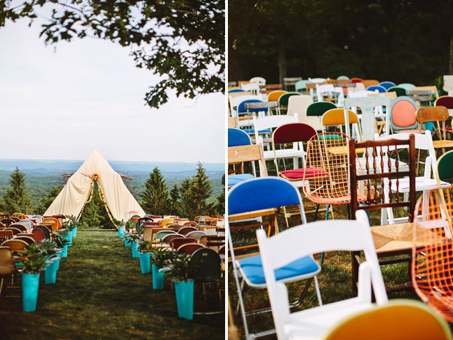 wes anderson ceremony decor