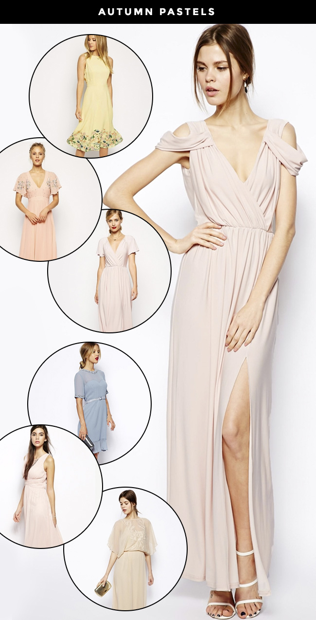 Autumn Pastels for bridesmaids