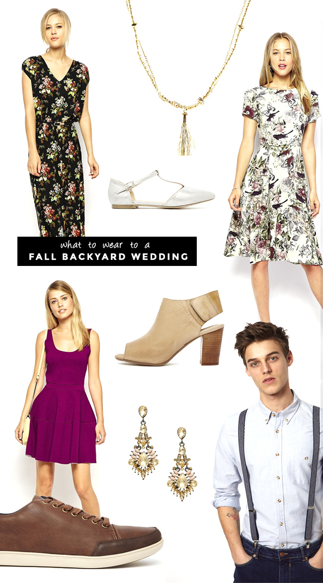 What to wear to a Fall Backyard Wedding