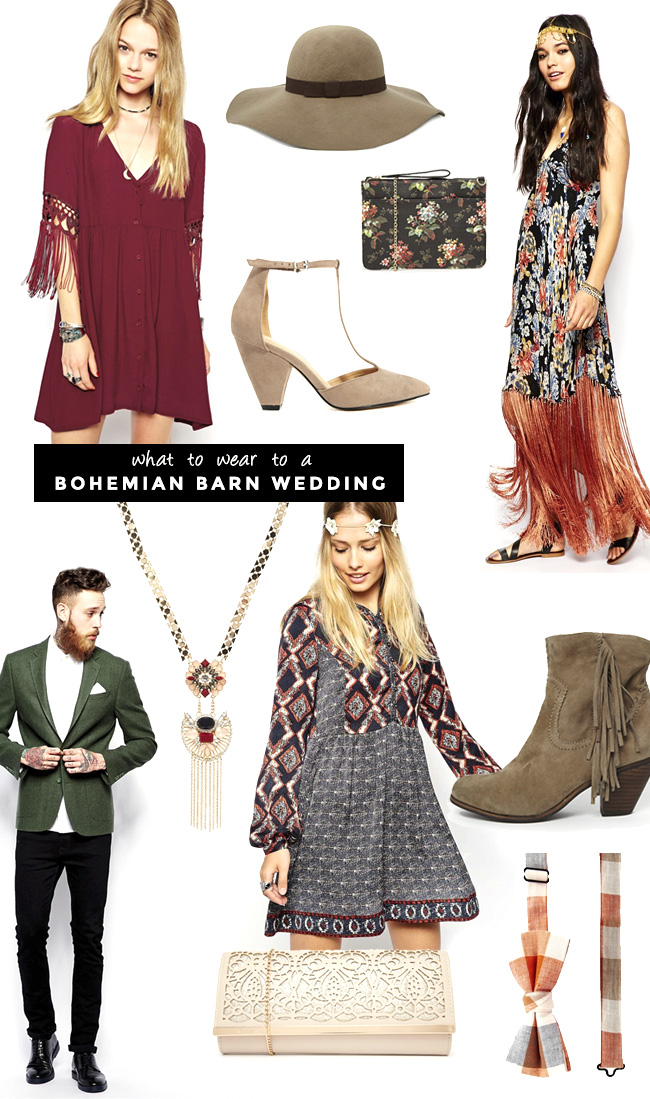 What to Wear to a Boho Barn Wedding
