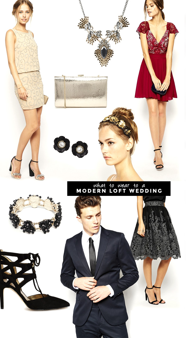 What to Wear to a Fall Modern Loft Wedding