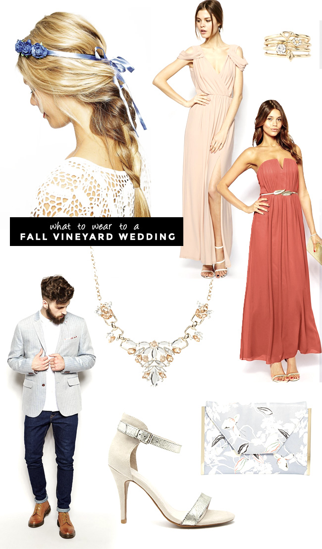 What to wear to a Fall Vineyard Wedding