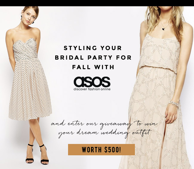 Styling Your Bridal Party for Fall with ASOS