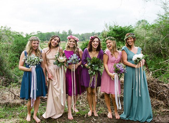 durga-kali reversible bridesmaid dresses