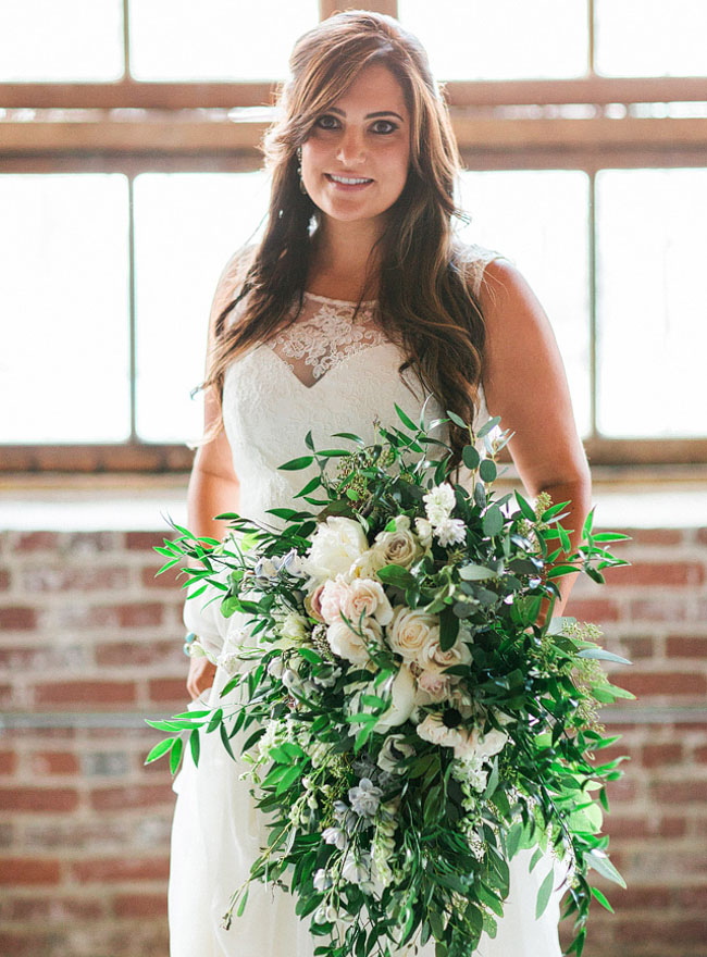 giant green bouquet
