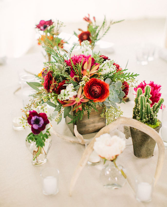 bright berry centerpiece