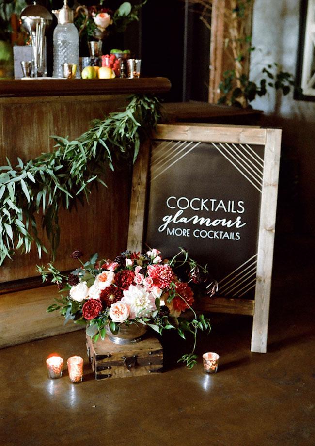 cocktail chalkboard sign