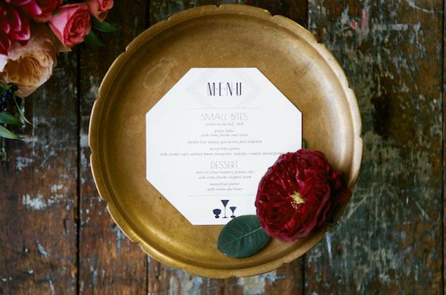menu + garden rose
