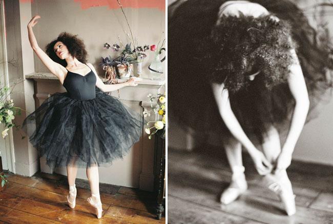black tuell ballet dances