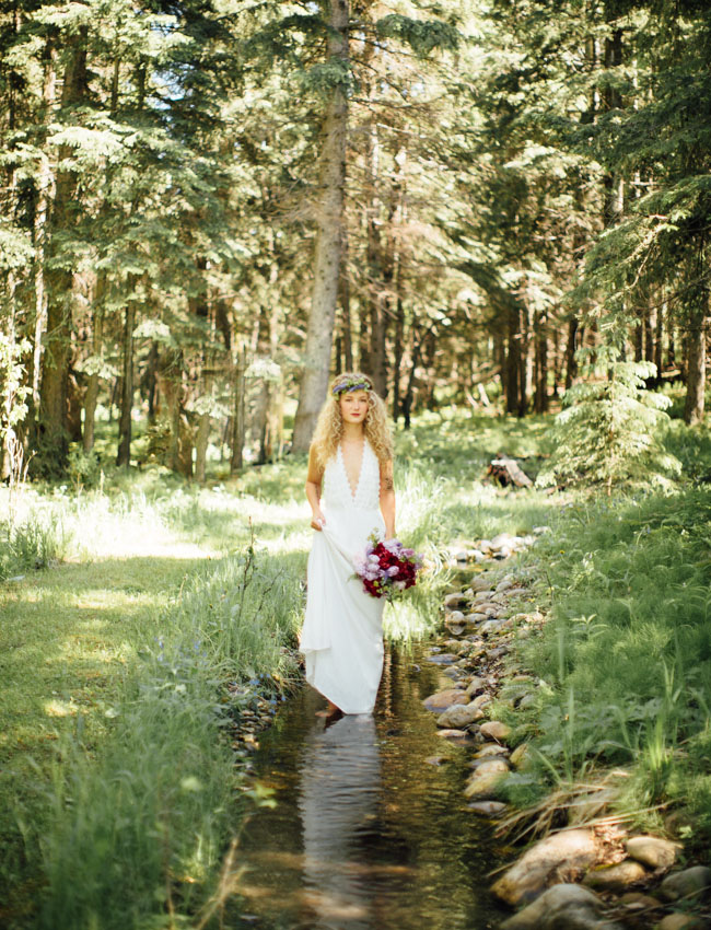 wooded canadian bride