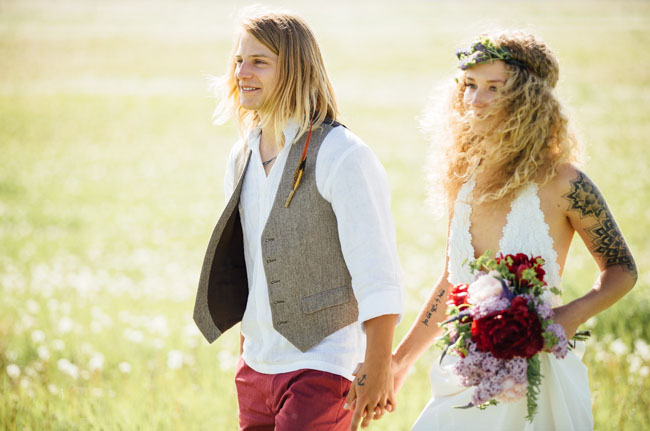 boho canadian ceremony