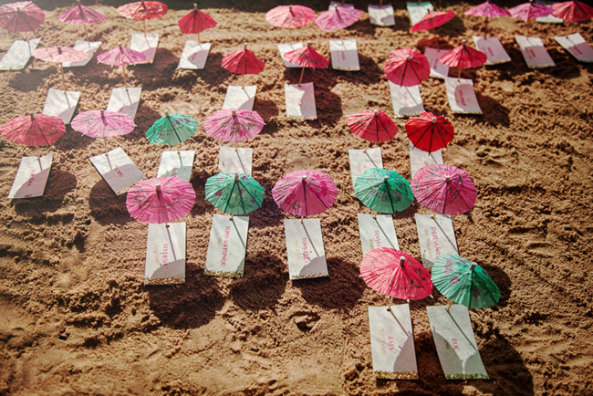 drink umbrella escort cards