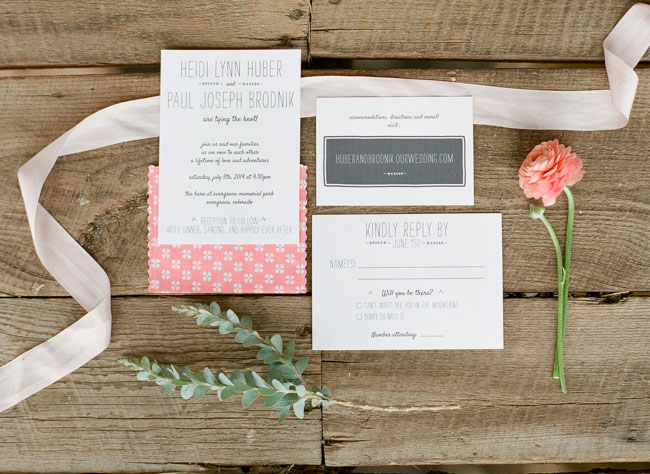 colorful colorado invitation