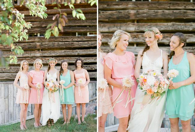 mixed bridesmaids