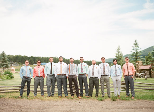 groomsmen in their own attire