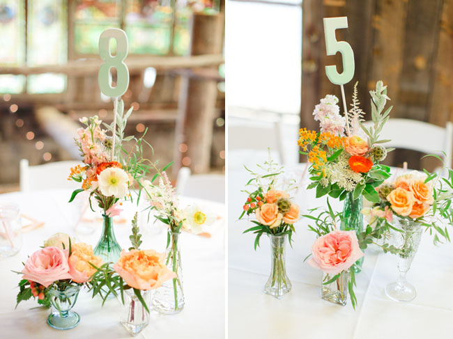 ombre table numbers