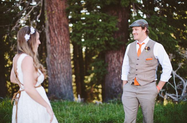 groom wearing vest