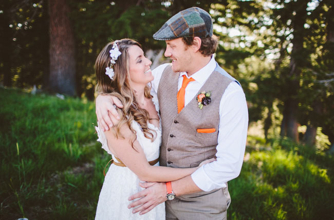 groom wearing hat
