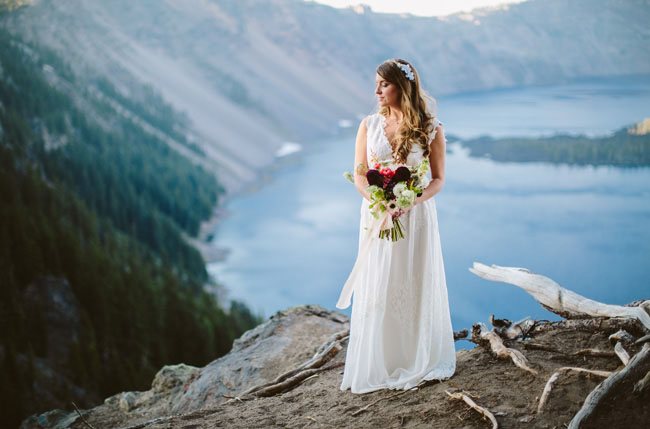 bride with a view