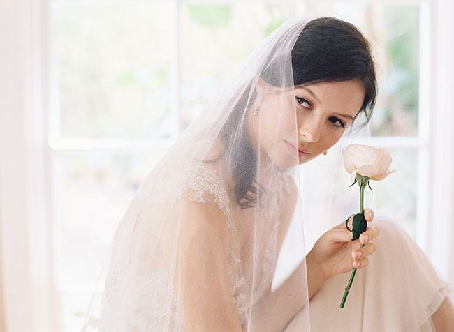 bride with flower stem