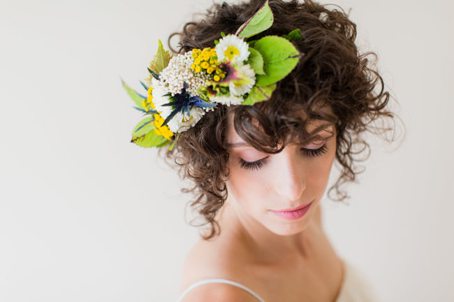 garden flower hair piece