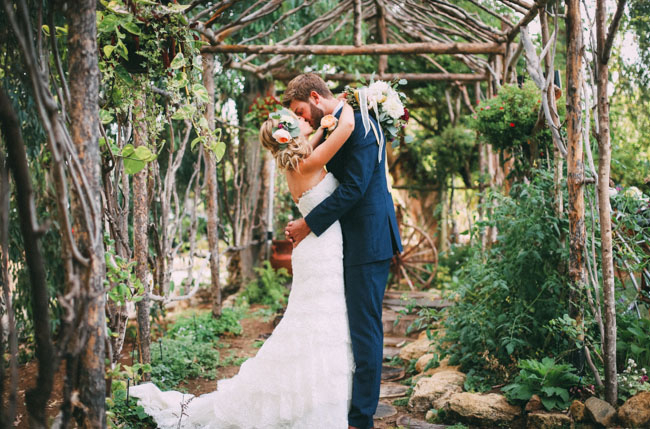 golden garden wedding
