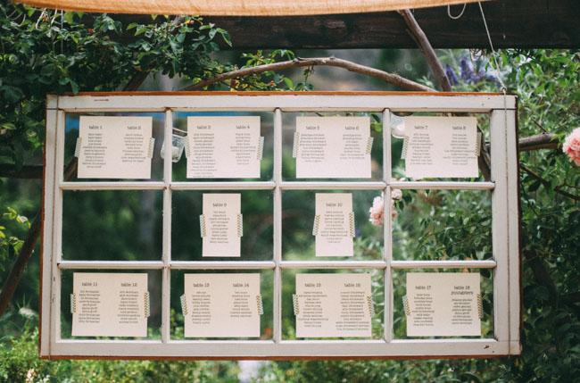 window pane escort card display