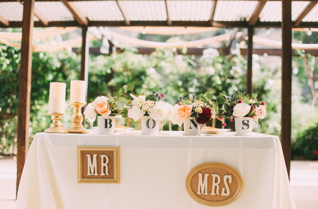 mr and mrs sweet heart table