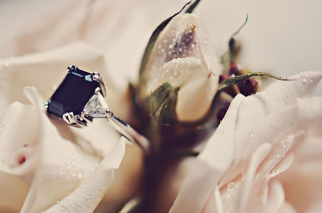 dark stone ring
