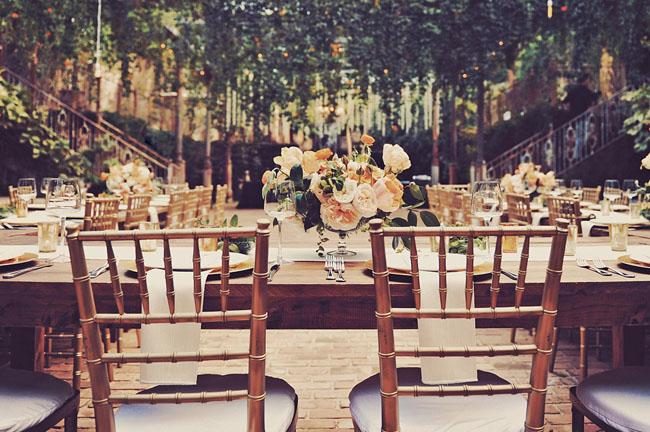 orange tablescapes