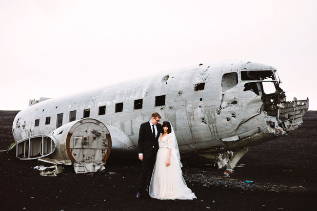 Iceland Black Sand Beach Elopement: Rosmery + Nate | Green ...