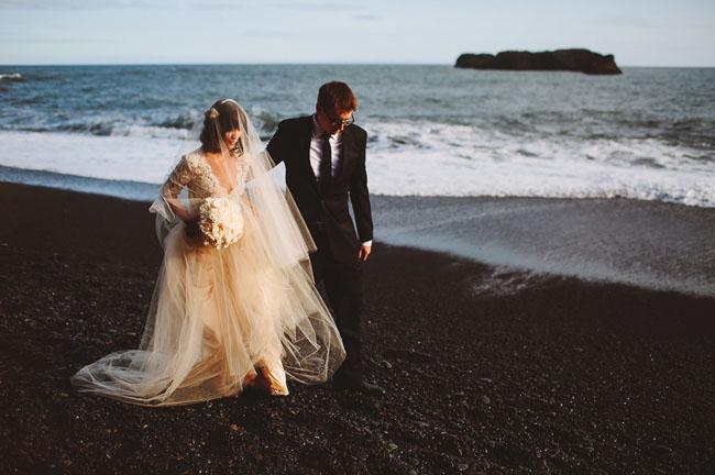 Iceland Black Sand Beach Elopement Rosmery Nate Green Wedding Shoes Weddings Fashion