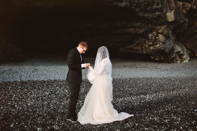 iceland elopement ceremony