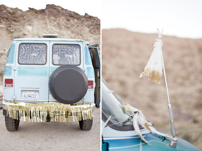 gold fringe decor van