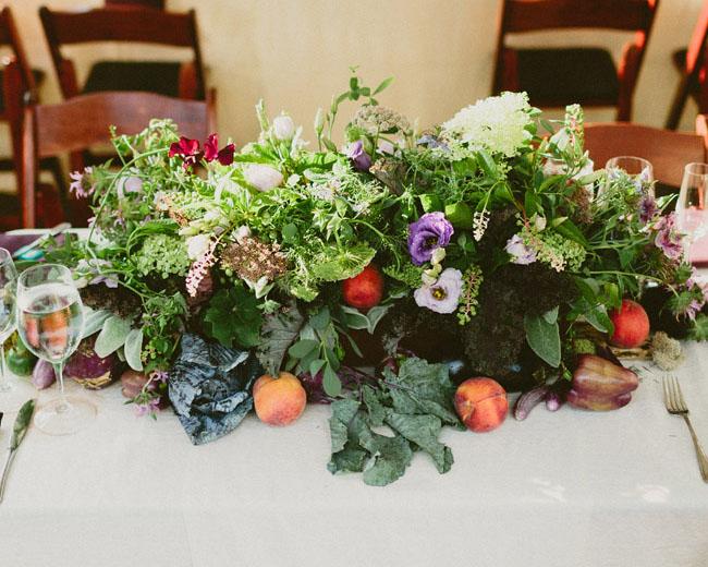 organic veggie centerpiece