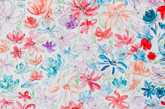 watercolor floral backdrop