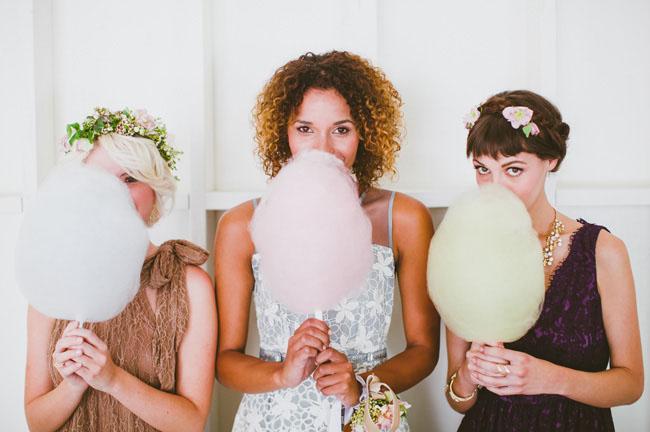 cotton candy bridesmaids