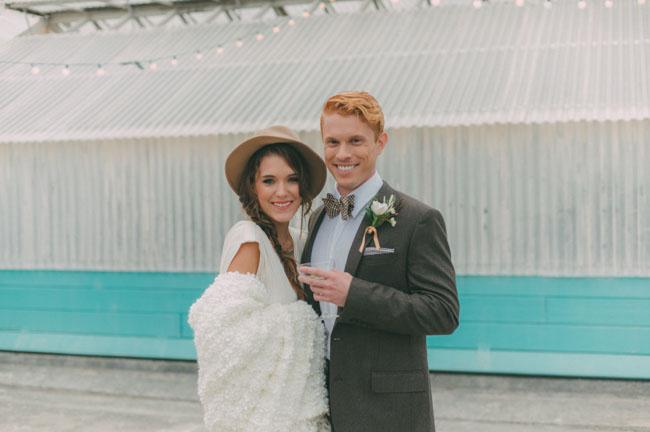 white bridal wrap